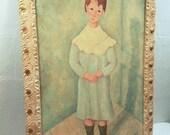 Mid Century Original Folk Art Painting