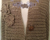 Crochet Organic Cotton Wrap, Shawl, Wrap, Organic Cotton, Crochet, Clothing, Women, Accessory, Sweater, Poncho