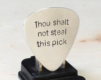 Aluminum Guitar Pick Handmade to keep Pick Thieves at Bay - GP746
