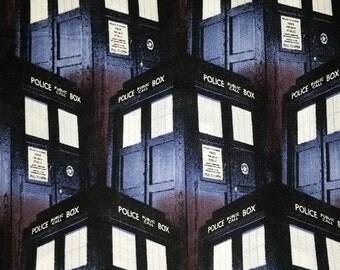 Police Public Call Box Fabric--FQ-- 40-70% off Patterns n Books SALE