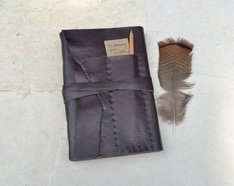 Leather Journal with Pocket / Rustic Brown Leather Journal