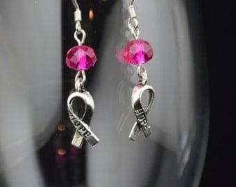 Breast Cancer Awareness Earrings