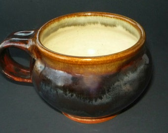 Chocolate Brown   and Rusty Brown Coffee  Mug or Cocoa Mug Tea Cup