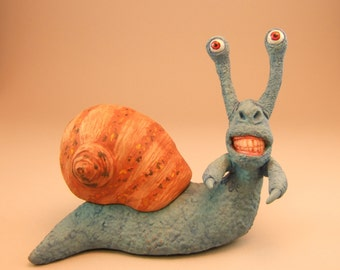 Cryptid Snail Clay Sculpture