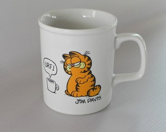 Garfield Mug. I Like My Coffee to Sit Up and Bark. By Jim Davis for Enesco. 1978, 1981.