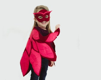 Owlette Costume inspired by the Story PJ Masks Owlette Mask and Wing Cape, Toddler and Pre-Schooler Halloween Costume