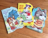 Vintage 1980s Childrens Book / Set of 3 Golden Sturdy Shape Books 80s Hc / Early Reader Board Books