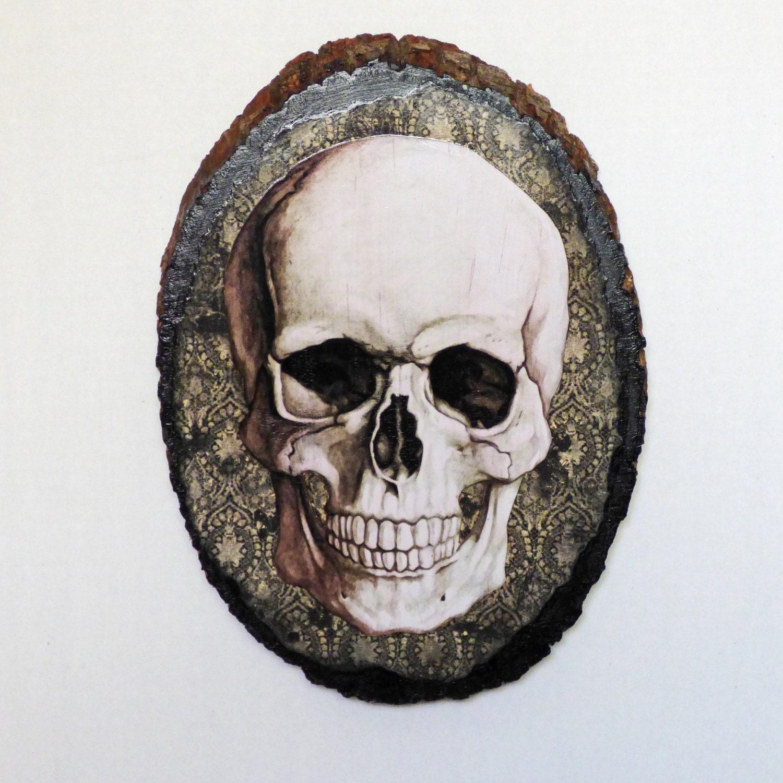 Gothic wall art skull decor gothic home by nacreousalchemy for Skull home decor