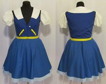 Pokemon Ash Female Dress Lolita Cosplay Costume Adult Women's Size 4 6 8 10 12 14
