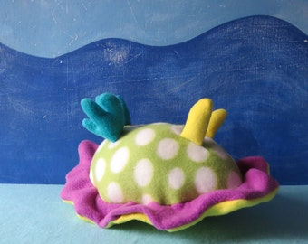 Little Sea Slug, Polka Dot Nudibranch Plush, Nudibranch, Sea Slug, Sea Creature, Slug