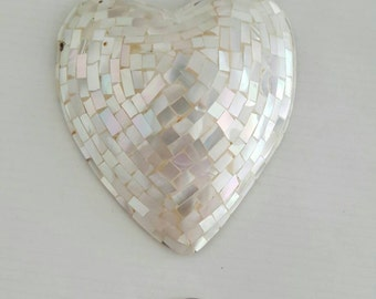 Large Mother of Pearl Heart Pendant