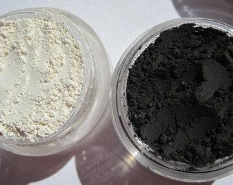 Basic Matte Black Eyeliner   Loose Powders   Mineral Eye Shadow & Matte White   Matte Vegan Eye Shadow Gift Set