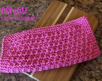 Knitted Dishcloth Pattern, Knitting Pattern, Ashley Dishcloth Pattern, Towel