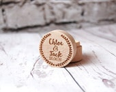 Personalised Wooden Ring Box - Custom made with the names & dates of your choice - Best Man - Laurel Design - Rustic