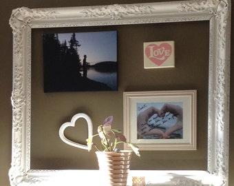"Shabby Chic Open Salon Frame- 37""x 45"" XTRA Large- Antique Frame- Salon Frame-Weddings-Nursery Decor- Photo Prop- Victorian"