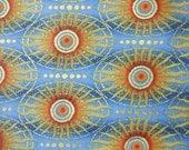 CUSTOM - Celestial Collection Sun Stripe Blue Gold Orange In The Beginning Fabric 1/4 Yard