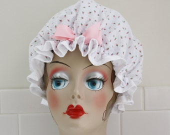 "Shower Cap Women's Waterproof Washable ""Rose Buds"" Shower Cap"