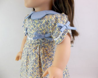 "18"" Doll Dress Fits American Girl Doll 30's Style Heritage Doll Dress for  18"" Dolls"