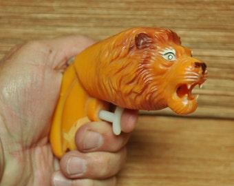 Vintage 1960s Plastic Lion's Head Squirt Gun Water Pistol  for display