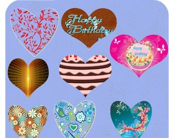Sabby's Word of Heart Shapes-Digital 171 images Vol. 1 CD -Digital-ClipArt-Art Clip-Jewelry-Background-Banner-Gift Tags-Gift Cards..