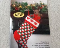 Christmas Keepsakes Vintage Booklet from Red Heart, Crocheting and other Crafts
