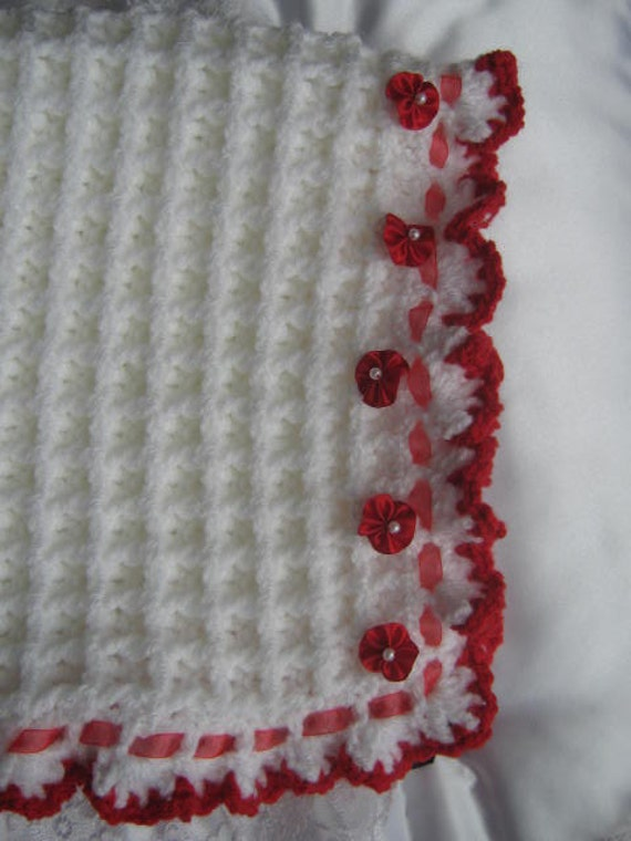 Waffle Stitch CROCHET PATTERN Baby Blanket/Afghan/Pram cover/Lapghan CR44 fro...
