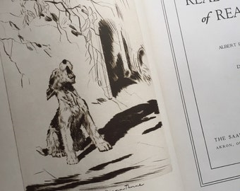 1935 First edition Real Tales of Real Dogs Albert Paysin Terhune etchings by Diane  Thorne
