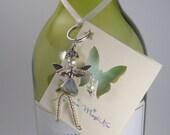 MARISSA Winter Fairy - Christmas Fairy Ornament - Fairy Decoration - Wine Bottle Charm - Pixie Charm - Fairy Ornament - Winter Decoration