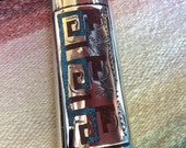 Crushed Turquoise & Coral Nickel Lighter Case