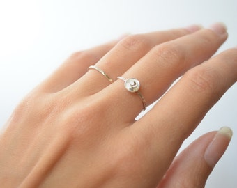 Satellite Ring - Sterling Silver and Gold Filled