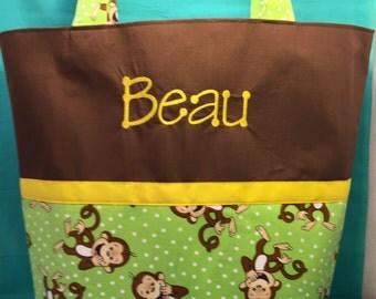 baby diaper bag Monkeys Monkeys Monkeys diaper bag you choose name baby monkey diaper bag