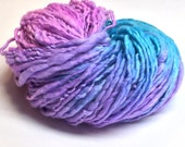 Hand spun chunky yarn, 110 yards and 5.65 ounces/161 grams, handpainted yarn in merino wool