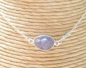 Sterling Silver Periwinkle Tanzanite Necklace