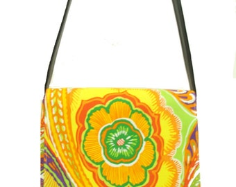 "US Handmade Messenger Bag With ""GUADALAJARA"" Pattern Shoulder Bag Purse,  Cotton, New"