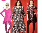 Loose Fit Tunic Tops Pattern, Loose Fit Tunic Dress Pattern, Adult Leggings Pattern, Khaliah Ali Tunic Pattern, McCall's Sewing Pattern 7028