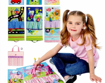 Girls and Boys Travel Toy Mats Pattern, Childs' Travel Toy Patterm, Kid's Travel Toy Pattern, McCall's Sewing Pattern 6934