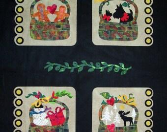 Winter Grace Linen Batik Quilt Top