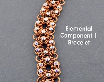 Kit Elemental Component 1 Chainmaille with 3mm Crystaletts