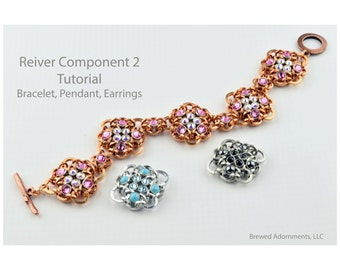 Tutorial Reiver Component 2 Chainmaille with Crystaletts