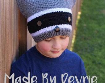 Raccoon Hat, Knitted Raccoon Hat, Knitted Hat Pattern, Knitted Hat, Knitting Pattern