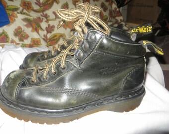 vtg Doc Marten drk  Brown Leather Hiking Boots - Size 6 UK, 6 1/2 US Men, 8 US women - Style 8287 -  Made in England Dr. Martens air wair