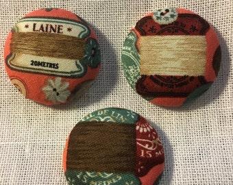 Choose One Needle Minder-Bobbins Themed w/Floss-Stitching-Cross Stitching-Cross Stitch-Embroidery-Hand Embroidery-Needlepoint