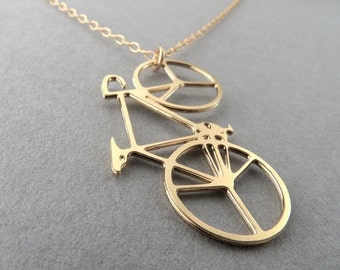 bicycle necklace, bicycle, bicycle jewelry