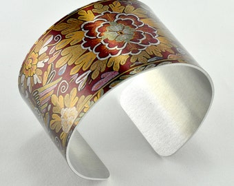 Made in the Americas Cover  - Aluminum Cuff Bracelet - Boston Museum of Fine Art - Photography - Handmade - Unique Gift - Wearable Art!