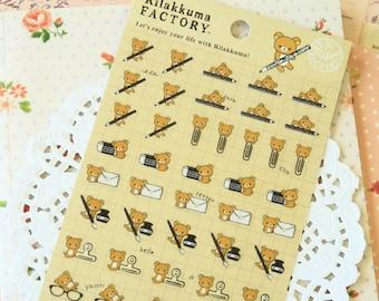 Pencil Clips Rilakkuma Factory cartoon scrapbooking stickers
