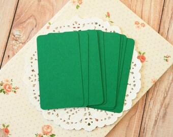 Dark Green 50pc handmade blank Business Cards
