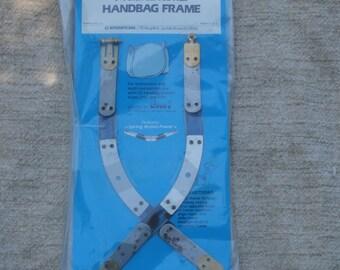 EZ 9 1/2 Inch Curved Hex Handbag Frame, Vintage Craft Supply