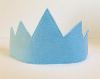 FOUR COLORS AVAILABLE - Children's Blue Felt Crown - Handmade, Dress Up, Costume, King, Queen, Prince, Princess, Superhero