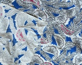 Vintage Rayon Fabric 1950s Sewing Material