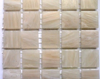"20mm (3/4"") Cream Off White MARBLED BEVELED Mosaic Tiles/Discount Tile/Craft Mosaic Supplies"